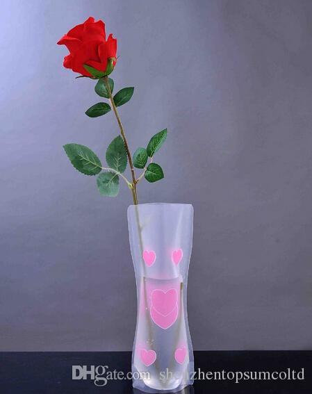 DIY blomma mix storlek vikning pvc vikbar liten uppväska eko vänlig vas från pålitlig vikbar vas