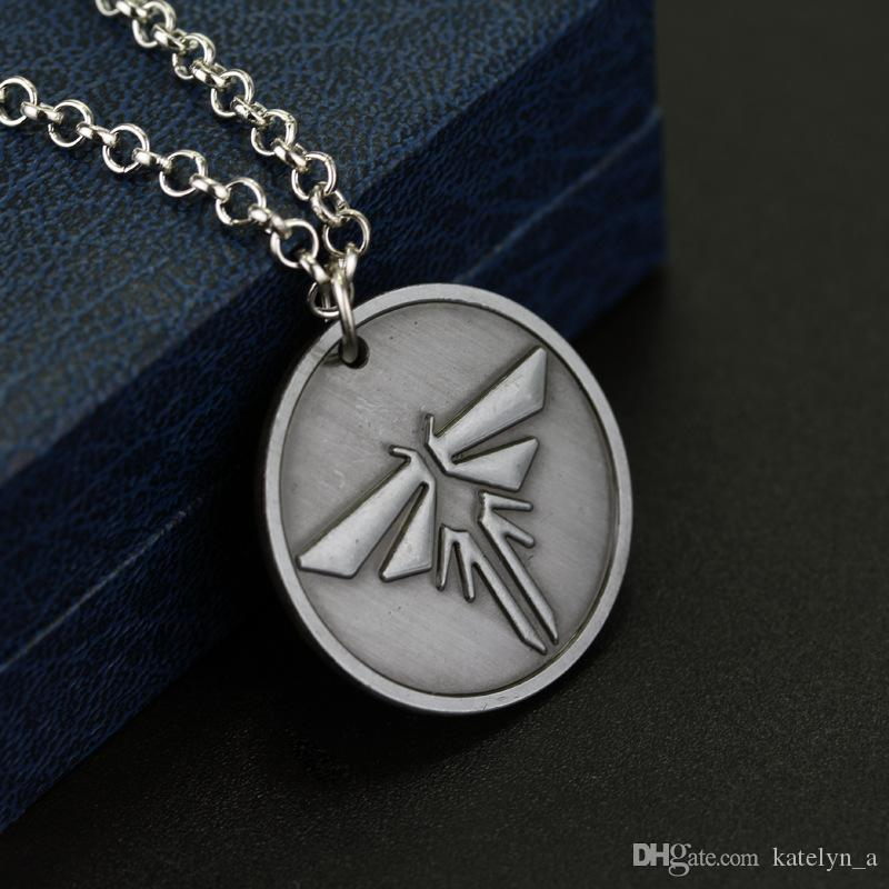 Wholesale the last of us necklace firefly logo letters dogtag joel wholesale the last of us necklace firefly logo letters dogtag joel ellie tess pendant vintage game jewelry for men and women silver locket mens pendants for aloadofball Images