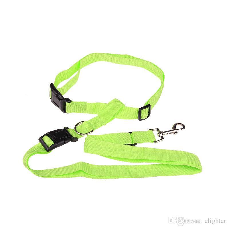 Waist pet dog leash running jogging puppy dog lead collar harness sport adjustable walking leash candy colors