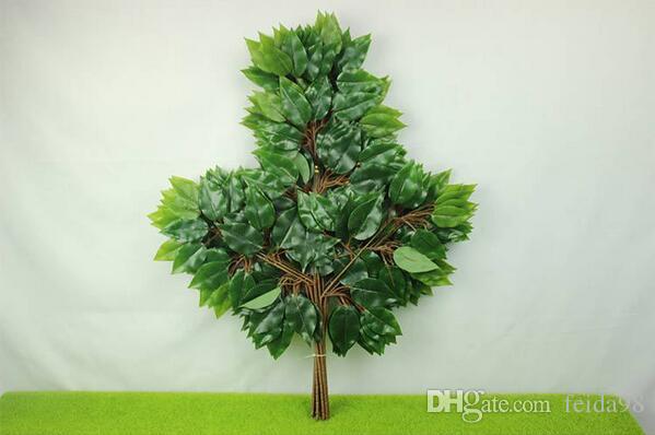 Feuilles artificielles de feuilles artificielles de banian artificiel