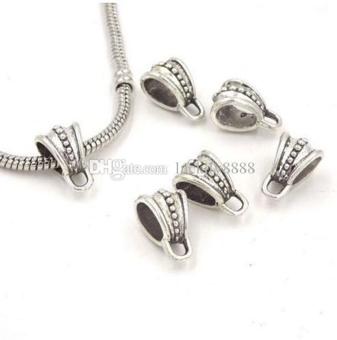 Сплав поручает распорку бусины Античное серебро для подвески для diy ожерелье ювелирных изделий выводы 15x9mm
