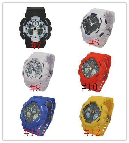 New top relogio G100 dos homens relógios esportivos, LED cronógrafo relógio militar relógio digital relógio, bom presente para, dropshipping