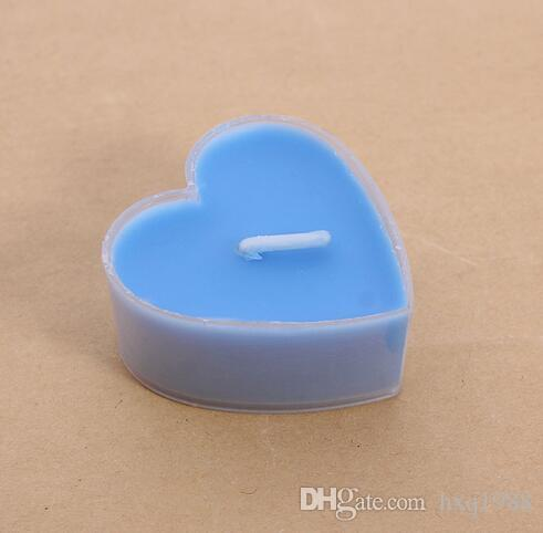 Wholesale 9valentine's day delicate PVC box of heart-shaped scented candles scented candles romantic proposal home decoration tea wax
