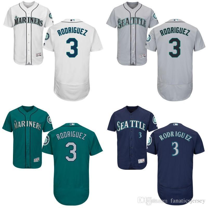 ... 2017 Mens Seattle Mariners 3 Alex Rodriguez Baseball Jersey White Jersey  Full Size Baseball Jersey From ... 6df713880