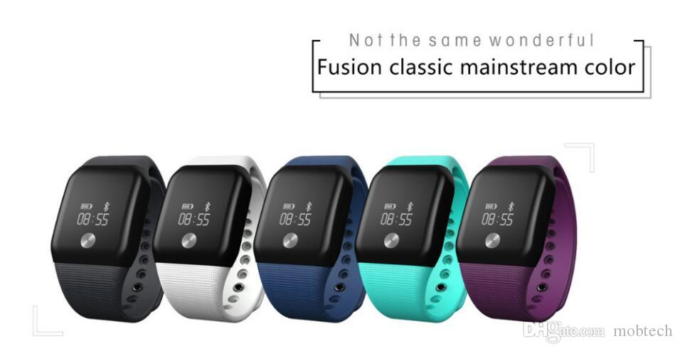 A88+ 066inch OLED Screen Heart Rate Fitness Oxygen Pressure Monitor Waterproof G-sensor Bluetooth Fast Charger shock alarm wrist smart watch