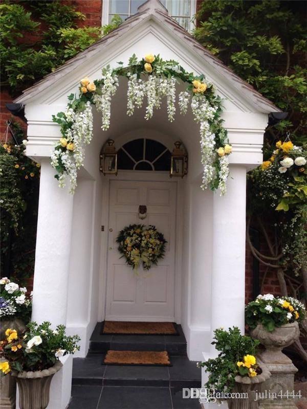 2019 45 '' idee di nozze glamour fiore di seta artificiale glicine vite decorazioni di nozze 3forks al pezzo più quantità più bella