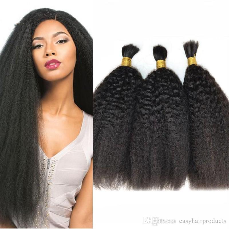 Mongolian Kinky straight bulk hair for braiding