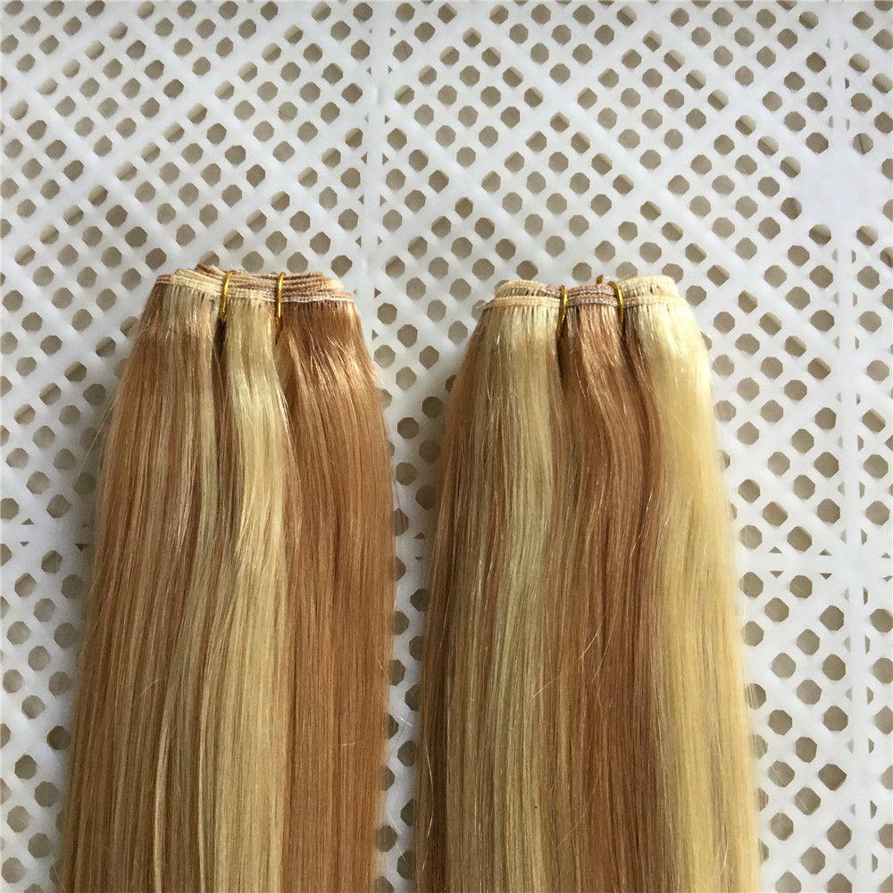Бразильская Дева первоклассный человеческих волос Пучки 14