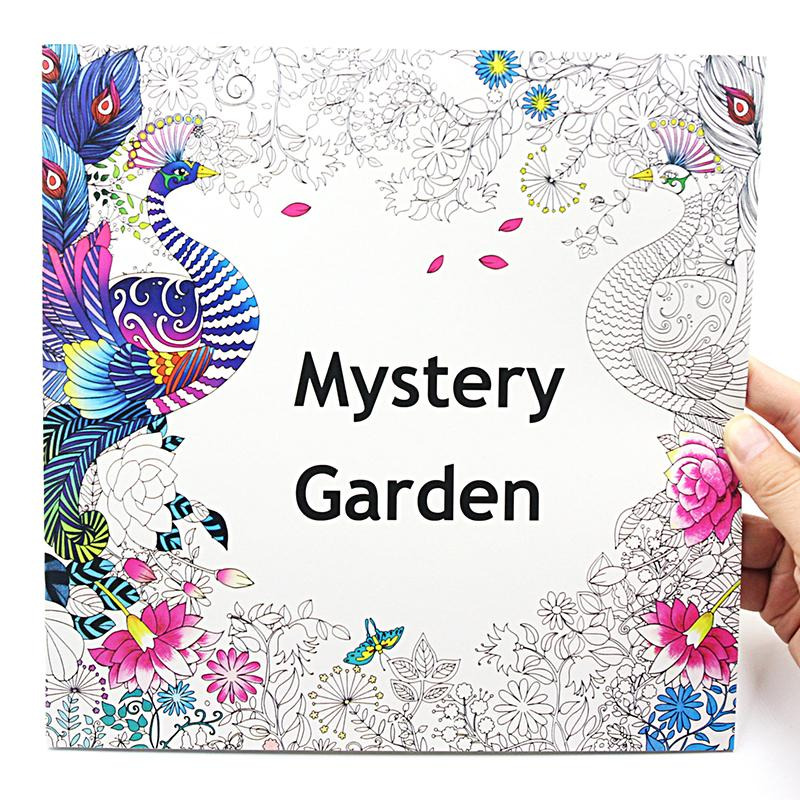 1 pcs new 24 pages 2525cm coloring books for kids and adults painting book mystery garden secret garden coloring book - Kids Painting Book