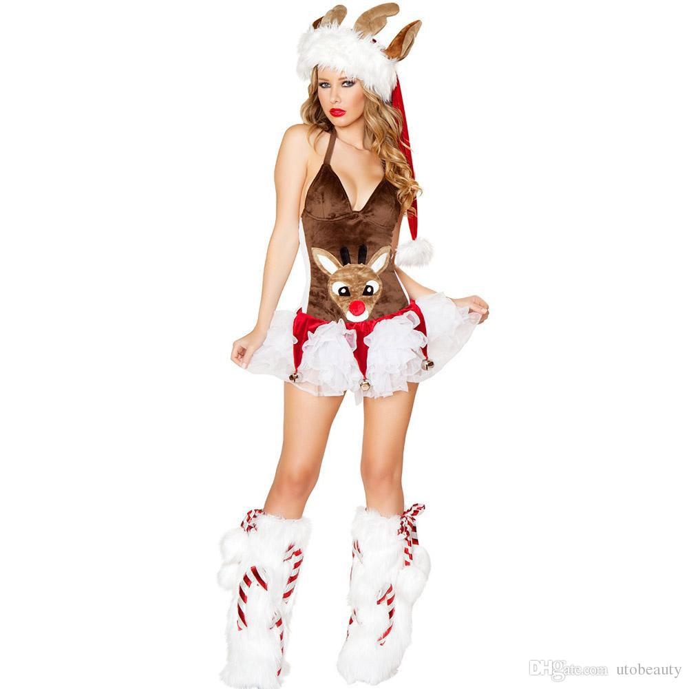 2017 Hot Summer Women Fashion Costume Adult Sexy Dress Brown Deer Animal Dress Christmas Halloween Costumes Super Woman Cosplay Costume Group Costumes For ...  sc 1 st  DHgate.com : womens reindeer costume  - Germanpascual.Com