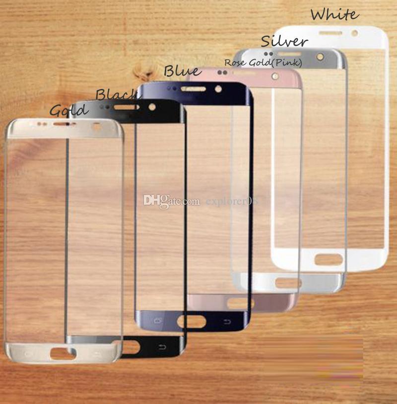 الأصلي لسامسونج غالاكسي S7 حافة G935 شاشة أمام زجاج عدسة + غطاء البطارية الزجاج الخلفي وردي / أزرق / أسود / أبيض / فضي / الذهب