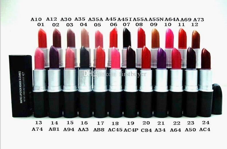 Brand Makeup Hight Quality MATTE Lipstick 3g With English Name Lip Stick Pink Lipstick Beauty Products From Firstbuyer, $2.54  DHgate.Com