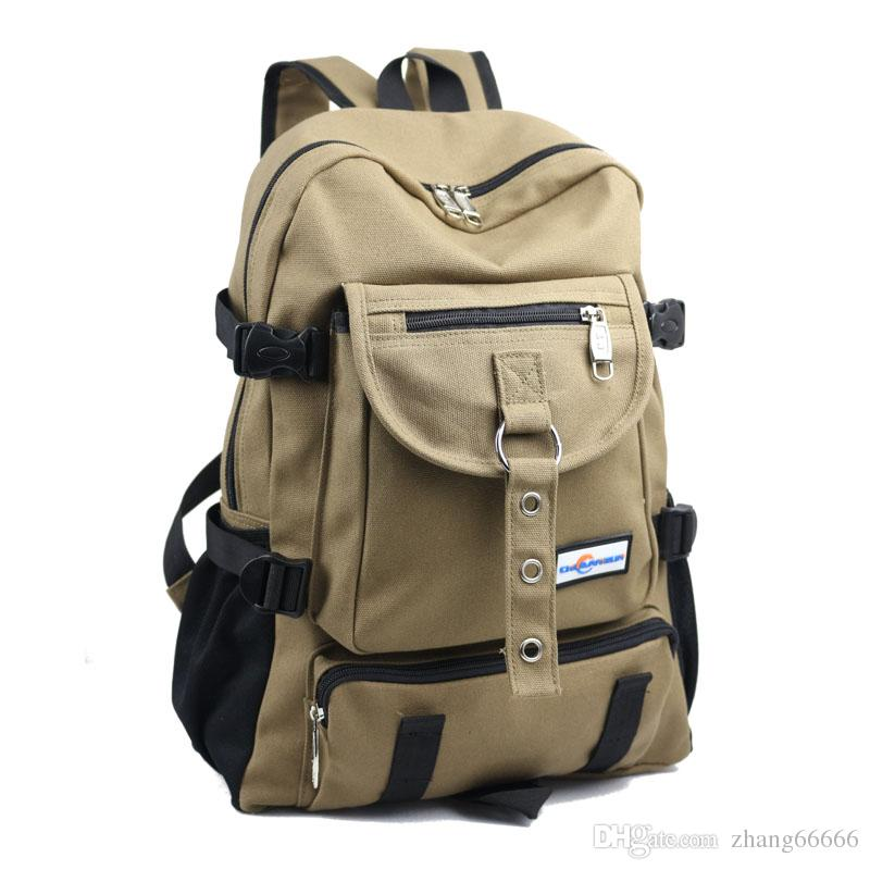 ff00474b59d New Fashion arcuate shouider strap zipper solid casual bag male backpack  school bag canvas bag designer backpacks for men