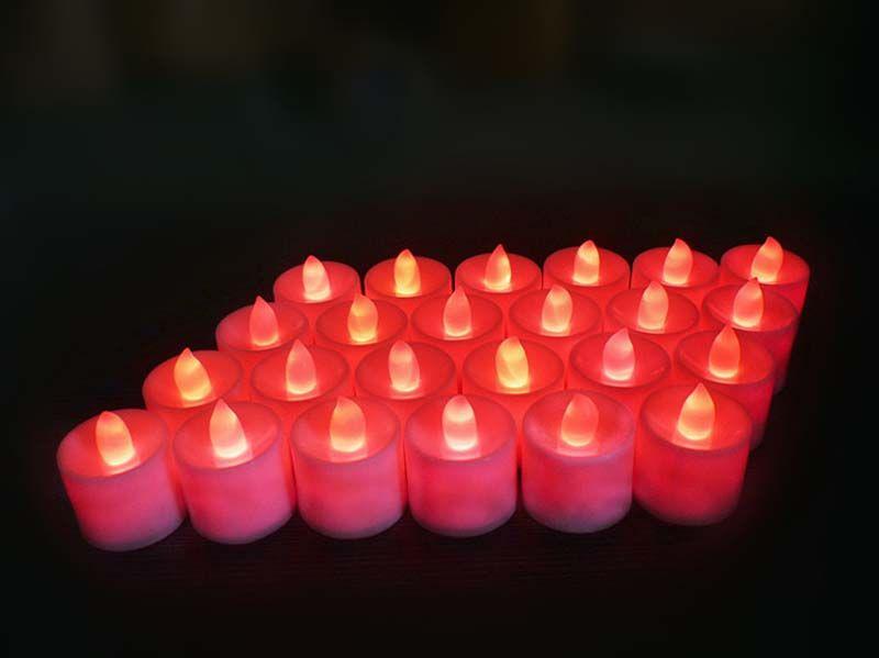 Candele LED Candela Tea Candles Luce Tealight Flickering Candela Luce Romance Festa di compleanno Candele di Natale Merci spedizione gratuita