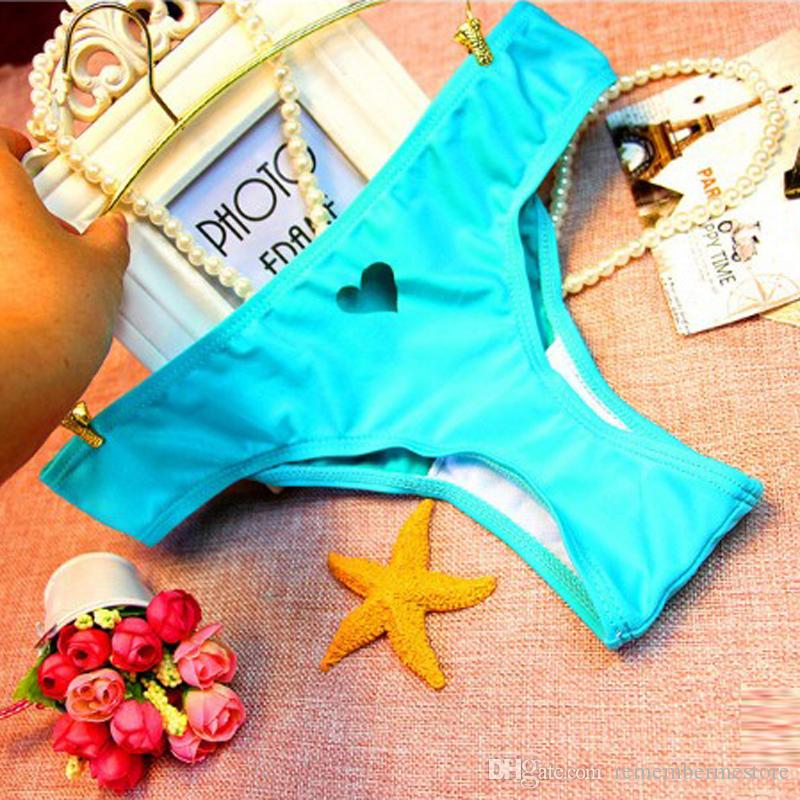 black Heart cut out Beachwear Bikini Bottom Swimwear bottoms thong sexy swimsuit shorts bikini swim shorts swimsuit biquini