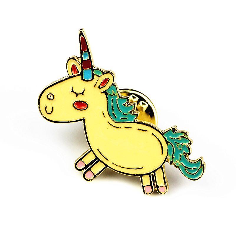Timlee X223 Sevimli Hayvanlar Unicorn Emaye Pin Aşk El Bira WTF Gül Broş Pins Düğme Pimleri Moda Takı Toptan