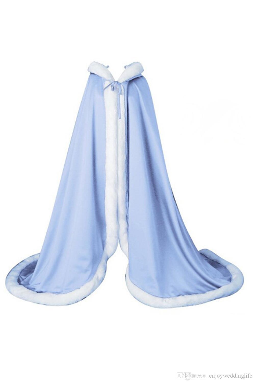 i economici inverno mantello da sposa pelliccia finta avvolge le giacche con cappuccio inverno matrimoni mantelle da sposa abiti da sposa cpu974