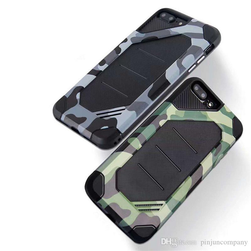 Для samsung galaxy note 8 S8 PLUS Для iphone X 8 Huawei Y5 2017 Y5 III Камуфляжный гибридный бронированный чехол Двухслойная крышка