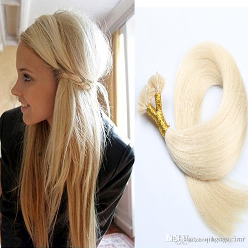 U Tip Pre Bonded Straight Brazilian Hair Extensions Stick Tip Human