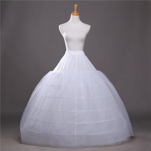 Бальное Дешевые Подъюбники для свадебных платьев Эластичный 6 обручей Один Tiers платье Underskirt Crinoline Свадебные аксессуары +2017