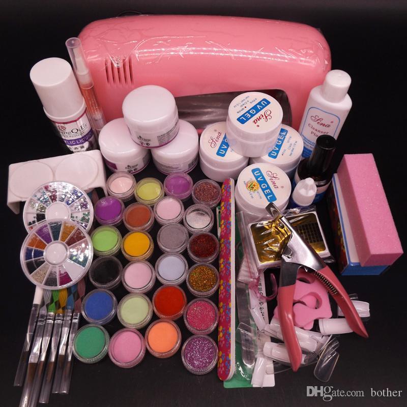 Wholesale 9w Uv Pink Dryer Lamp Acrylic Powder Rhinestones Uv Gel ...