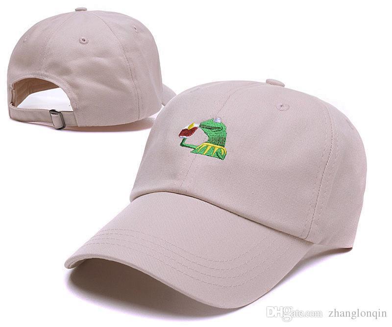 Le donne degli uomini nuovi di zecca alta qulity cappello a sfera kermit berretto regolabile cappelli snapbacks caps accettano l'ordine della miscela diversi stili di trasporto libero di sme