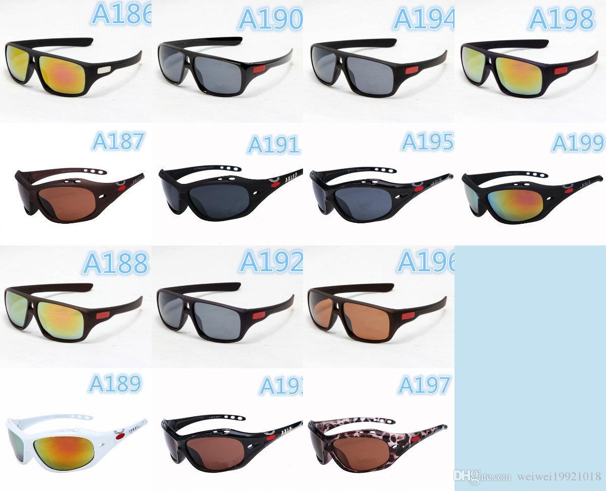 Fashion White Frame Red Lens Men\'S Batwolf Sunglasses Sport Sun ...