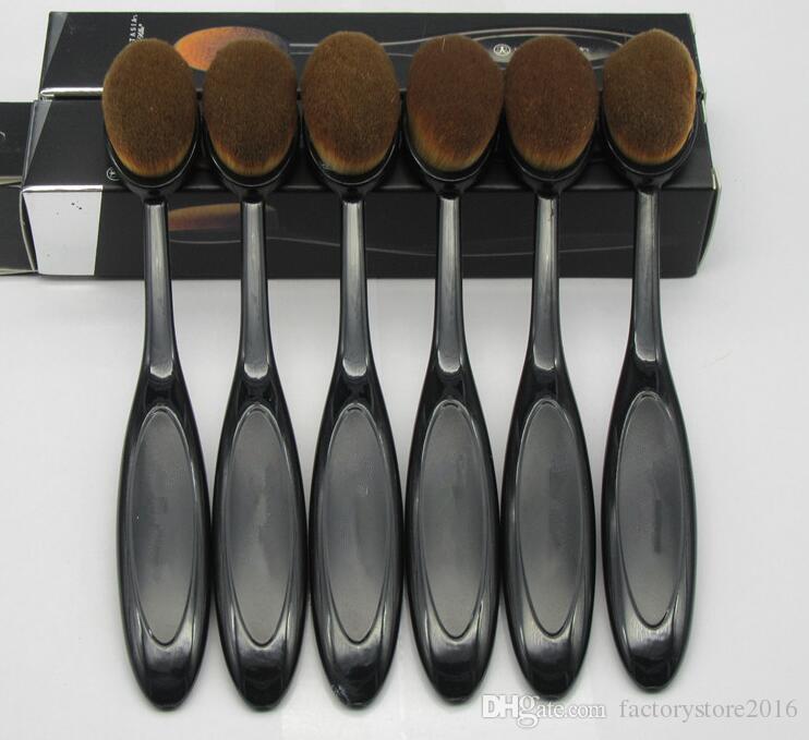 Großhandel Make-up Pinsel Beste Mischung Oval Pinsel Puder Gesicht Pinsel Foundation Lidschatten Pinsel Zahnbürste Kosmetische Werkzeuge Hohe Qualität