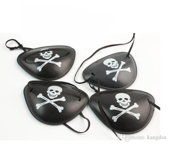 Halloween cosplay Pirate Eye Patch crâne Crossbone Halloween Festival Party Faveur Sac Costume Enfants Jouet Eyepatch parti masques