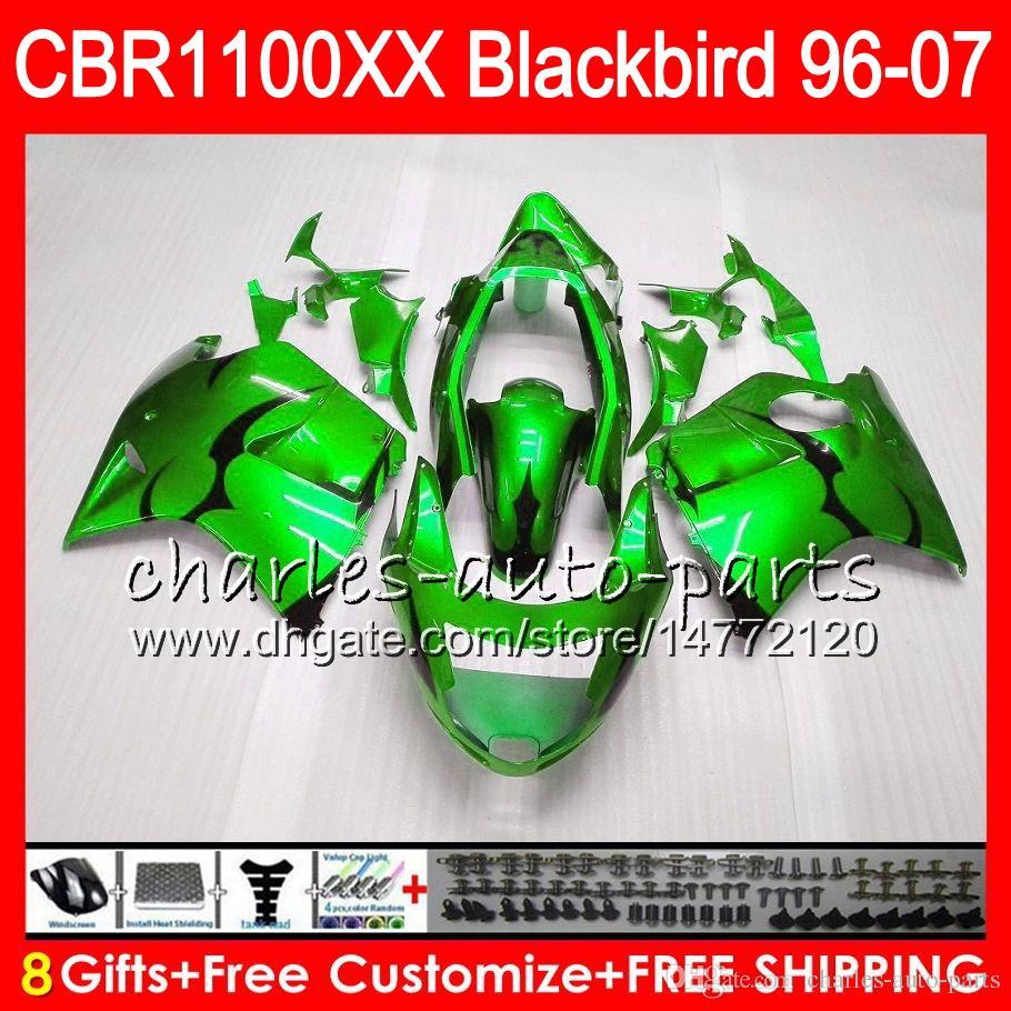 Body For HONDA Blackbird gloss green CBR1100 XX CBR1100XX 02 03 04 05 06 07 81NO67 CBR 1100 XX 1100XX 2002 2003 2004 2005 2006 2007 Fairing