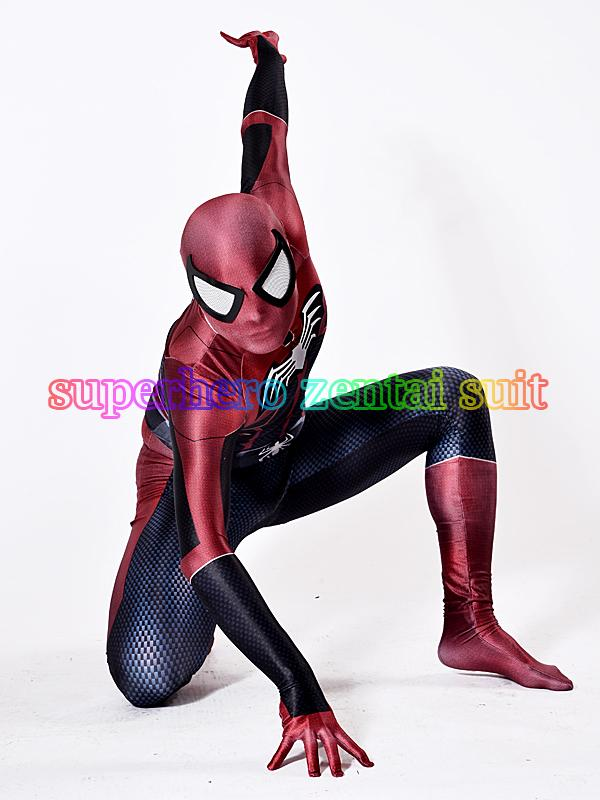 Spider-Bat Costume 3D Shade Spandex Fullbody Halloween Cosplay Spiderman Superhero Costume For Adult/Kids Hot Sale