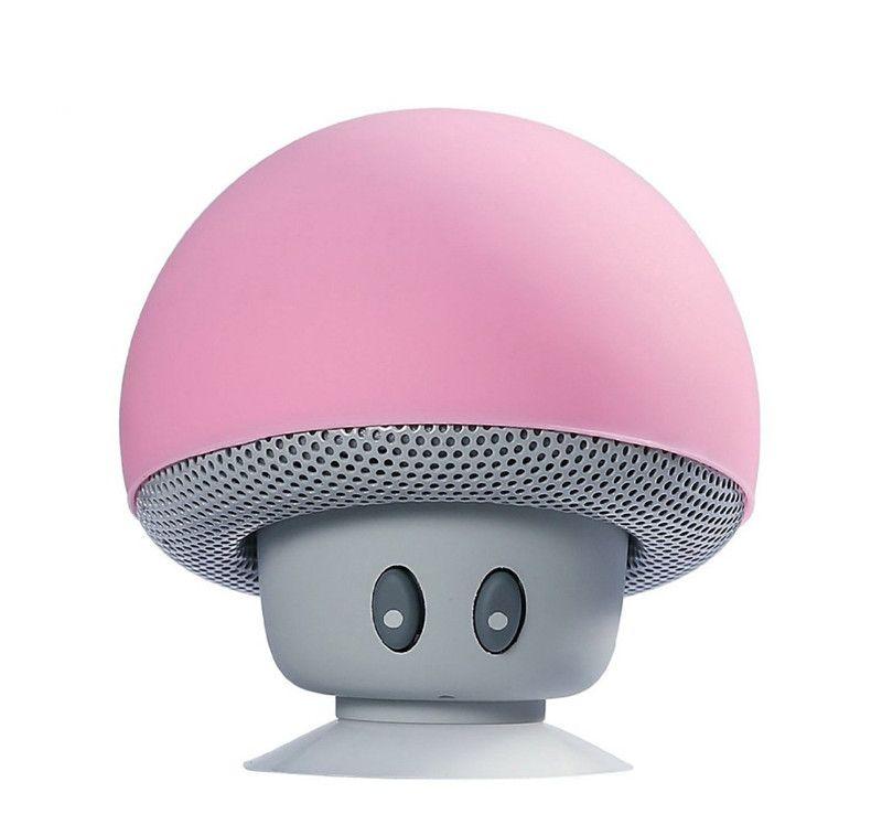 Cartoon Mashroom Mini Bluetooth Lautsprecher Tragbare Outdoor Subwoofer Lautsprecher Für iphone Tablet PC mit Ständer Halter und Sucker