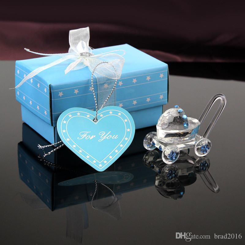 2018 Wholesale Baby Shower Favors Choice Crystal Carriage With Chorme Wheel  Crystal Baby Stroller Infant Baptism Gift From Brad2016, $2.56 | Dhgate.Com