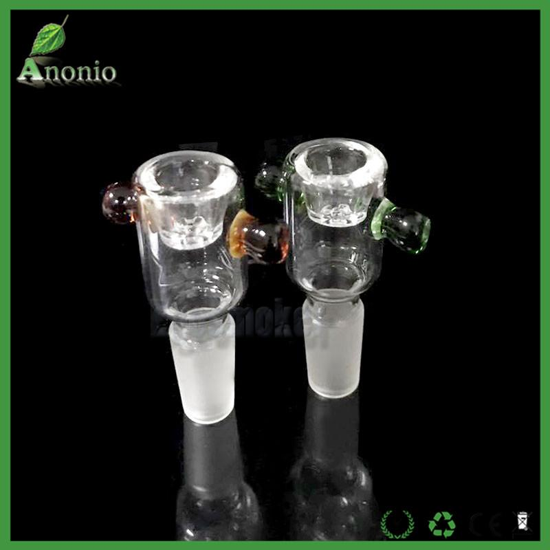 2pGlass Heady Filter Bowl With Honeycomb Screen Snowflake Male 14mm 18mm Glass Bowl Ash Catcher Bowl for Glass Water Bongs