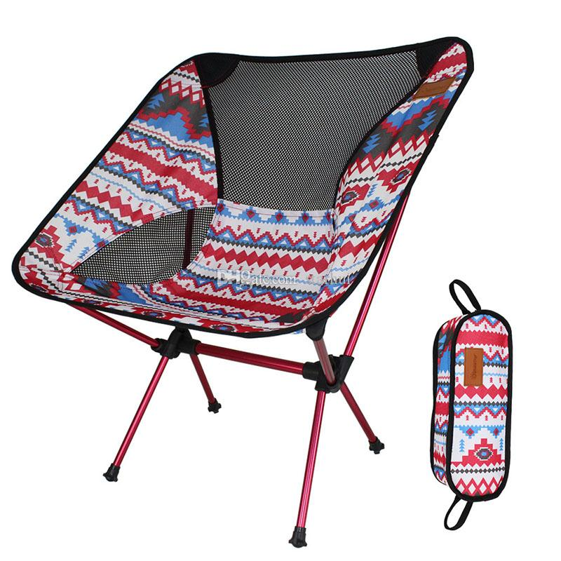 New Outdoor Folding Chair Portable Lightweight Camping Leisure Picnic BBQ Beach Fishing Seat Family Car Camping Travel Tool WX-H13