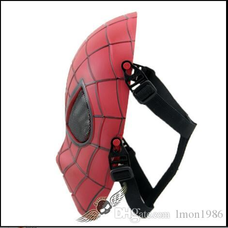 Top Grade Resin Hero Catcher New Spiderman Mask Amazing Spider man Face Mask Hero Red Spiderman Spandex Mask CS Outdoor Game Cosplay