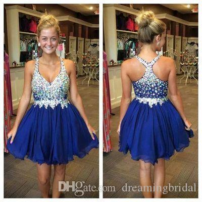 d27955672a Royal Blue Homecoming Dresses Spaghetti Straps Sweetheart Neck Ruched Fancy  Party Prom Dresses Cocktail Dresses Custom Made Plus Size Sexy Dresses  Online ...