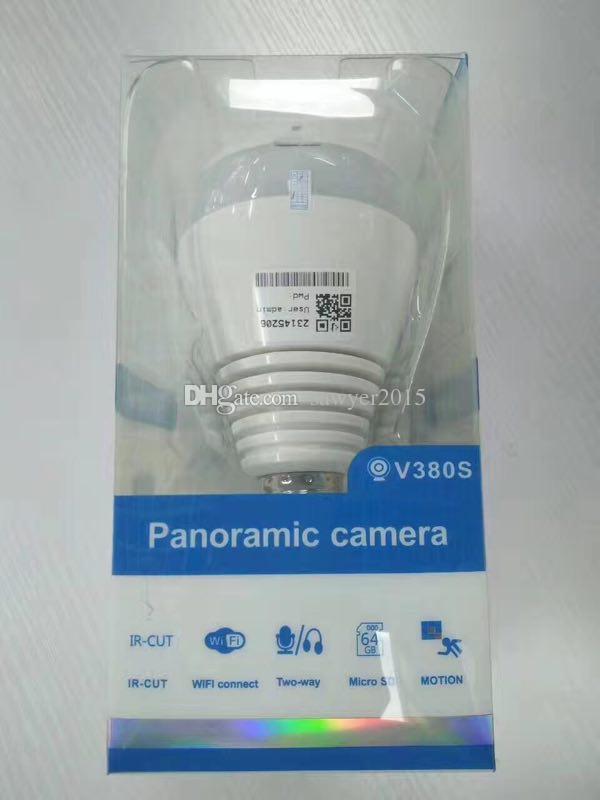 Панорамная камера лампа Беспроводная IP-камера Wi-fi FishEye HD 960p 360 градусов Mini CCTV VR камера 1.3 MP Главная видеокамера безопасности