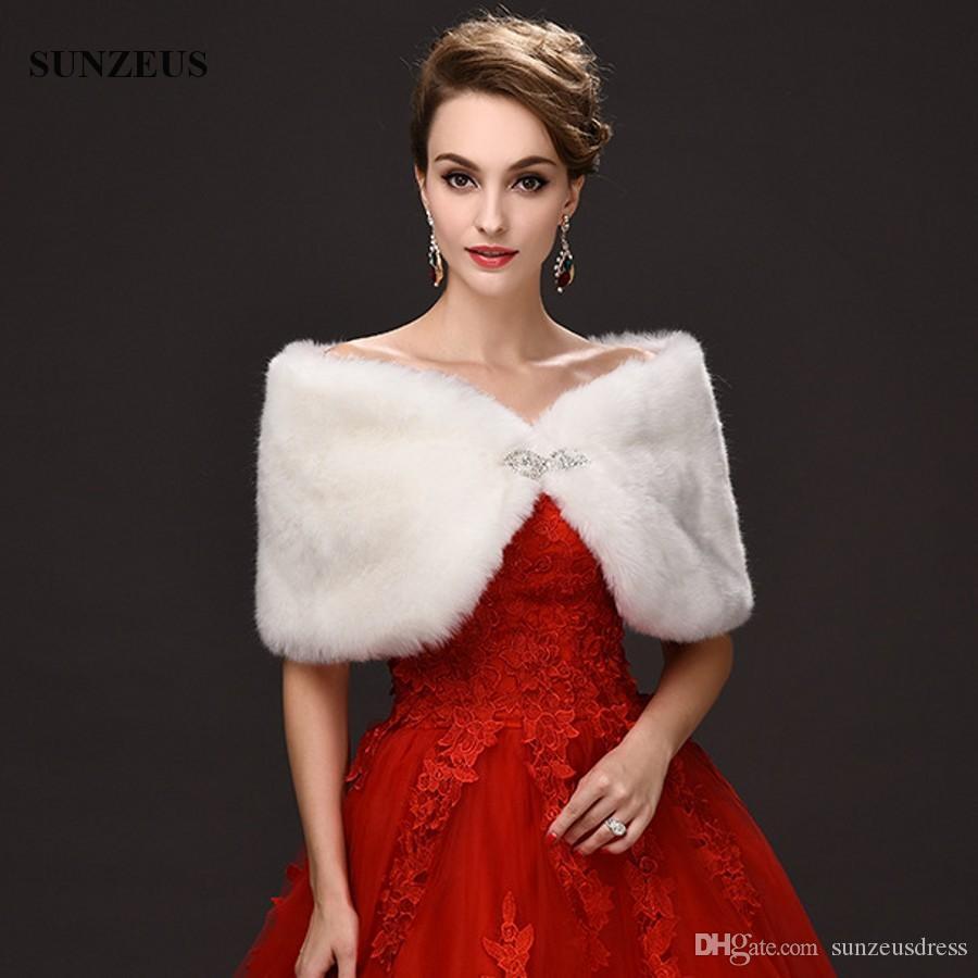 2019 New Arrival Wedding Wraps Red Ivory Hochzeit Cape Winter Warm