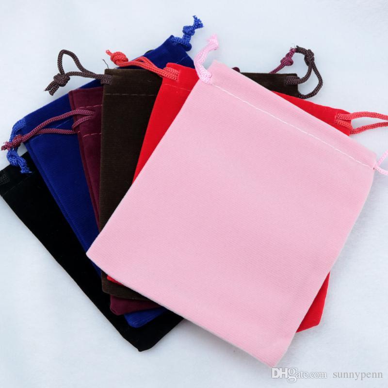 cd221c2a6 Logotipo de impressão Grandes Sacos De Veludo 50 pcs 15 * 20 cm Preto  Vermelho Marrom Tecido De Embalagem De Veludo Sacos de Presente de Jóias  Saco De ...