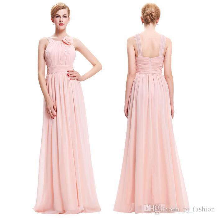 Under 50 Cheap St Full Length Pink Prom Dress Bridesmaid Flower ...