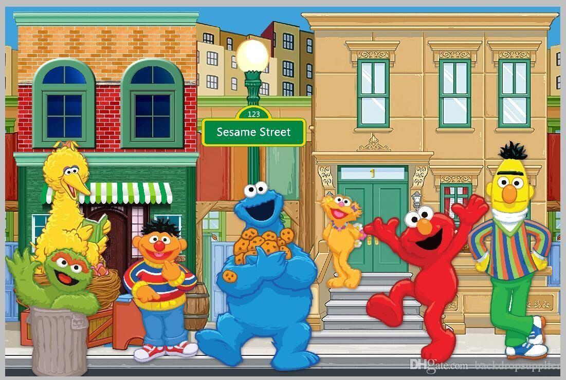 2018 7x5ft Sesame Street Elmo World Custom Photo Studio Background Backdrop Banner Vinyl 220cm X 150cm From Backdropsupplier 1207