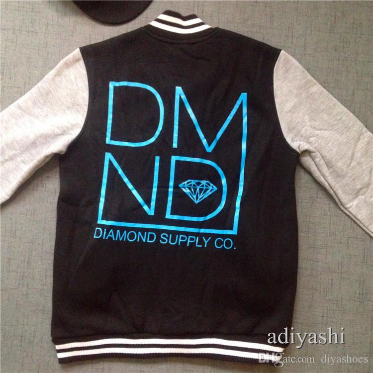 2018 jaqueta de beisebol diamante europeu e americano hiphop plus size xxxl streetwear 100% algodão top quality preço de atacado casaco de diamante