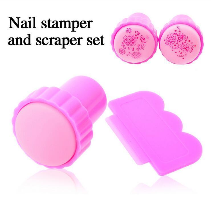 New Diy Nail Art Stamper & Scraper Stamping Tool Plastic Nail Art ...