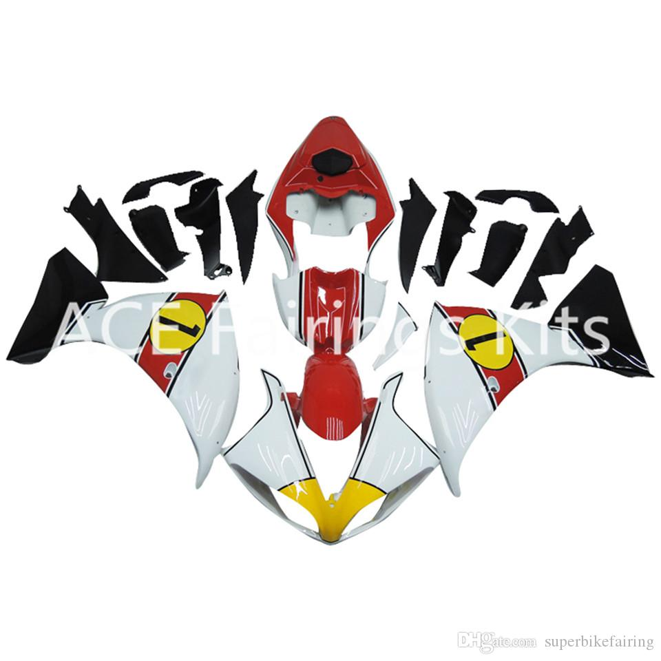 3 free gifts Complete Fairings For Yamaha YZF 1000-YZF-R1-09-10-11-12 YZF-R1-2009-2010-2011-2012 Motorcycle Full Fairing Kit Yellow Whitev22