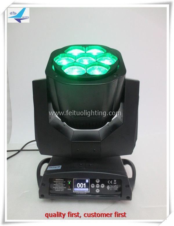 4Xlot flight case stage decoration illuminazione mini B-EYE beam moving light rgbw 4in1 led dmx 7x15w moving head zoom