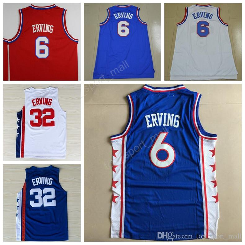 723a40c51a1 HighTop 6 Dr J Julius Erving Jersey Men Sale Throwback 32 Julius Erving  Basketball Jerseys For ...