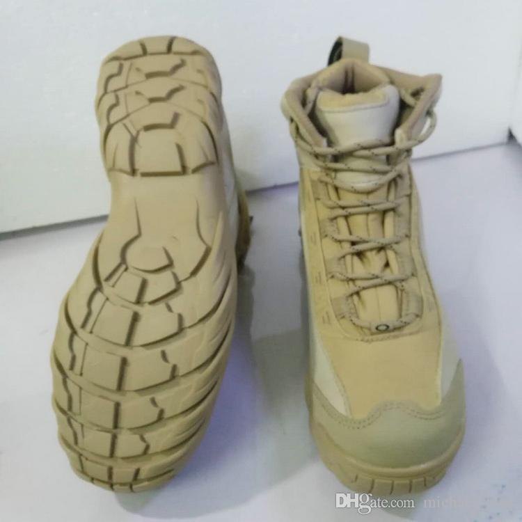 Venda quente Na Fábrica Diretamente Deserto Tático Botas de Combate Botas de Combate Do Exército Americano Exército Preto Botas Respiráveis Wearable Frete Grátis