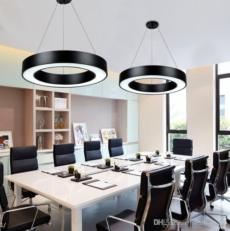 New Arrival Modern Office Led Circle Pendant Lights Round