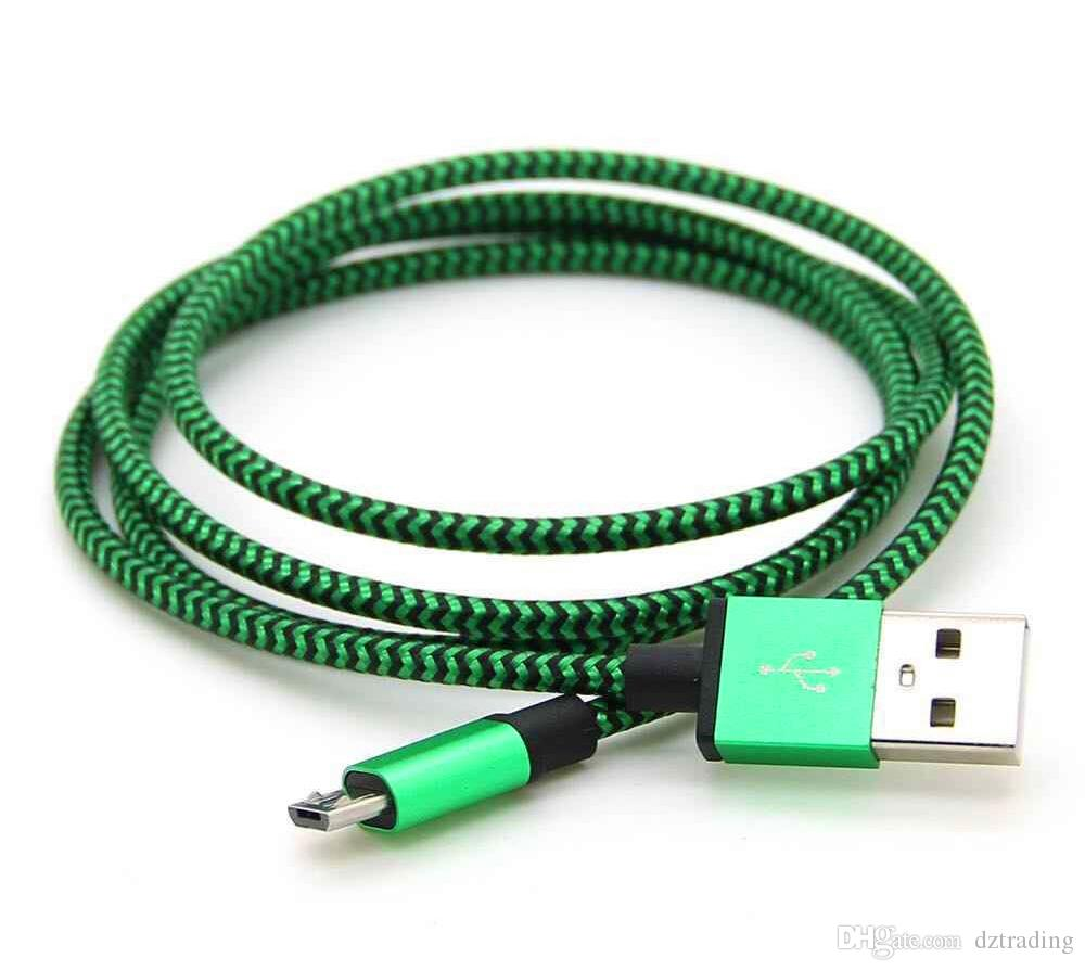 ypes C USB Kabel für S8 S8 Plus Ungebrochenes Metall Verbindungsmaterial Nylon Geflecht Micro USB Kabel Blei-Ladegerät Kabel V8 Für Samsung S7 / 6/5 1M 2M 3M